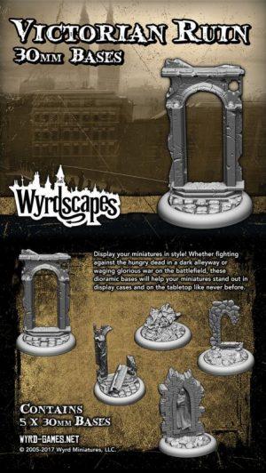 Wyrd   Victorian Bases Wyrdscapes Victorian 30mm Bases - 5 Pack - WYRWS001 - 813856018514