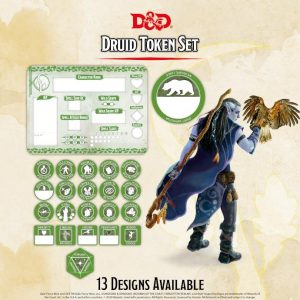 Gale Force Nine Dungeons & Dragons  D&D Extras D&D: Druid Token Set (Player Board & 23 tokens) - GFN72506 - 9420020251120