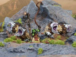 Mantic Kings of War  Orcs Goblin Mawbeast Pack Troop - MGKWO76-1 - 5060208864434