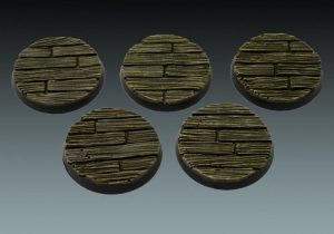 Baker Bases   Plank / Decking Plank: 40mm Round Bases (5) - CB-PL-01-40M - CB-PL-01-40M