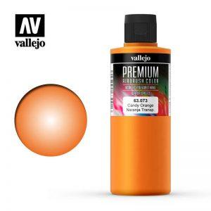 Vallejo   Premium Airbrush Colour AV Vallejo Premium Color - 200ml - Candy Orange - VAL63073 - 8429551630733