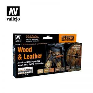 Vallejo   Paint Sets Vallejo Model Color Set - Wood & Leather (x8) - VAL70182 - 8429551701822