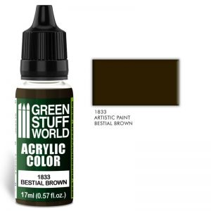 Green Stuff World   Acrylic Paints Acrylic Color BESTIAL BROWN - 8436574501926ES - 8436574501926