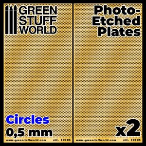 Green Stuff World   Etched Brass Photo-etched Plates - Small Circles - 8436574506044ES - 8436574506044