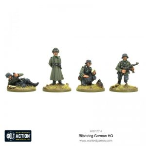 Warlord Games Bolt Action  Germany (BA) Blitzkrieg German HQ (1939-42) (Revised) - 403012014 - 5060572501607