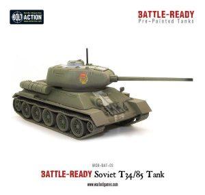 Warlord Games Bolt Action  Battle Ready T34/85 Battle Ready Tank - WGB-BAT-03 -