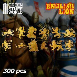Green Stuff World   Etched Brass Etched Brass English Lion Symbols - 8436574508253ES - 8436574508253