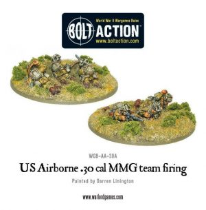 Warlord Games Bolt Action  United States of America (BA) US Airborne 30cal teams (2 variants, random) - WGB-AA-30 - 5060200847367