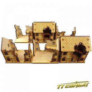TTCombat   World War Scenics 15mm Ruined Town House Set - WAR002 - 5060504043274