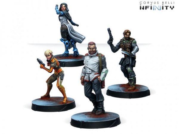 Corvus Belli Infinity  Infinity Essentials Agents of the Human Sphere RPG Characters Set - 280744-0810 - 2807440008102