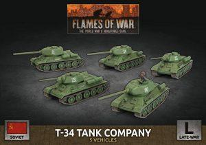 Battlefront Flames of War  SALE! Soviet T-34 Tank Company - SBX66 - 9420020251380
