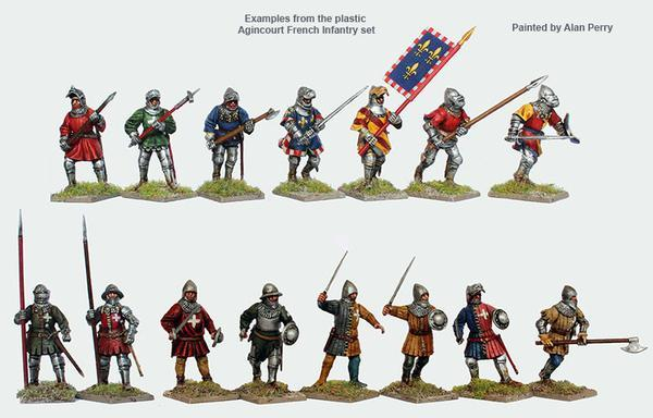 Perry Miniatures   Perry Miniatures Agincourt French Infantry 1415-1429 - AO50 - AO50