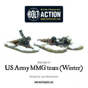 Warlord Games Bolt Action  United States of America (BA) US Army MMG team (Winter) - WGB-WAI-21 - 5060393702924