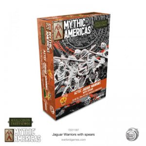 Warlord Games Warlord of Erehwon | Mythic Americas  Warlords of Erehwon Mythic Americas: Jaguar Warriors with spears - 722211007 - 5060572509146