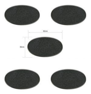 Games Workshop (Direct)   Plain Bases Citadel 60x35mm Oval Bases - 99079999006 - 5011921064656