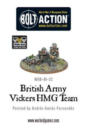 Warlord Games Bolt Action  Great Britain (BA) British Army Vickers MMG Team - WGB-BI-22 - 5060200842058