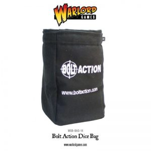 Warlord Games Bolt Action  Bolt Action Books & Accessories Bolt Action Dice Bag & Order Dice (Black) - 408900001 -