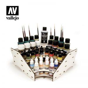 Vallejo   Paint Racks AV Acrylics - Paint Stand (Corner Module) - VAL26008 - 8429551260084