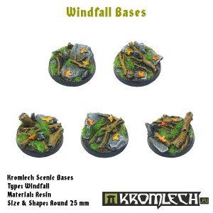 Kromlech   Windfall Bases Windfall round 25mm (10) - KRRB023 -