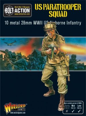 Warlord Games Bolt Action  United States of America (BA) US Paratrooper Squad - 402213101 - 5060393702276