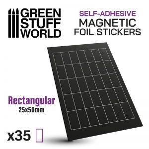 Green Stuff World   Magnets Rectangular Magnetic Sheet SELF-ADHESIVE - 25x50mm - 8435646503585ES - 8435646503585