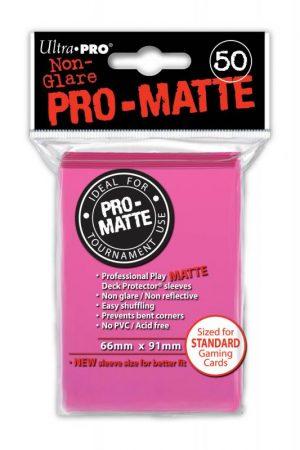 Ultra Pro   SALE! Ultra Pro Pro-Matte Sleeves (Bright Pink) (50) - UPR84147U - 74427841478