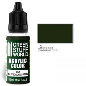 Green Stuff World   Acrylic Paints Acrylic Color OLIVEGROVE GREEN - 8436574501803ES - 8436574501803