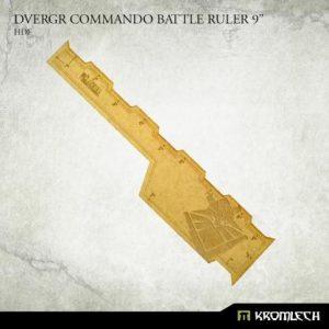 Kromlech   Tapes & Measuring Sticks Dvergr Commando Battle Ruler 9in [hdf] - KRGA087 - 5902216119703