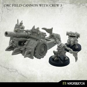 Kromlech   Orc Model Kits Orc Field Cannon with Crew 3 (1) - KRM146 - 5902216117525