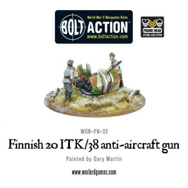 Warlord Games Bolt Action  Finland (BA) Finnish ITK/38 Anti-Aircraft Gun - WGB-FN-33 - 5060393701408