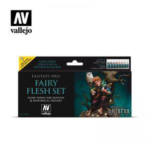 Vallejo   Paint Sets AV Vallejo Fantasy Set - Fairy Flesh - VAL74101 - 8429551741019