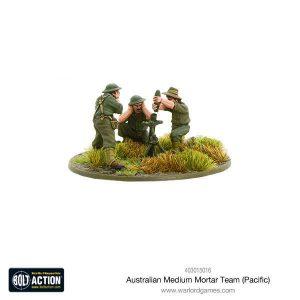 Warlord Games Bolt Action  Australia (BA) Australian Medium Mortar Team (Pacific) - 403015016 - 5060393707431