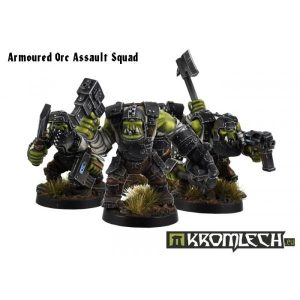 Kromlech   Orc Model Kits Armoured Orc Assault Squad (10) - KRM027 - 5902216111523