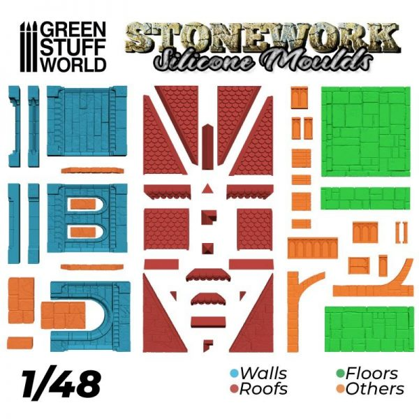 Green Stuff World   Mold Making Silicone Moulds - Stonework - 8436574505566ES - 8436574505566