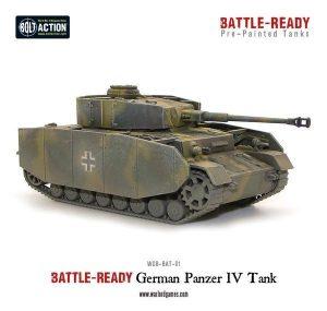 Warlord Games Bolt Action  Battle Ready Panzer IV Battle Ready Tank - WGB-BAT-01 -