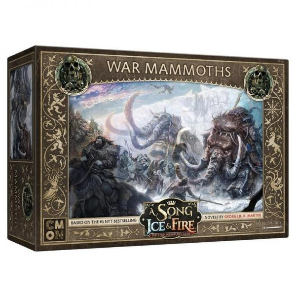 Cool Mini or Not A Song of Ice and Fire  Free Folk A Song of Ice and Fire: War Mammoths - CMNSIF412 - 889696011213