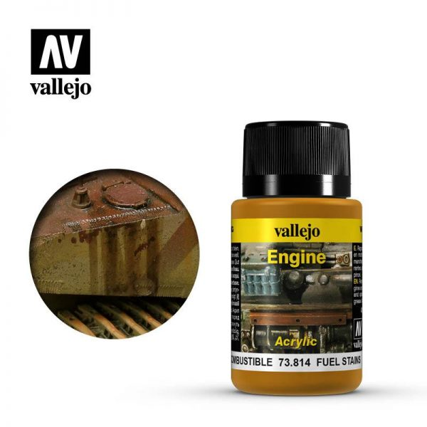 Vallejo   Weathering Effects Weathering Effects 40ml - Fuel Stains - VAL73814 - 8429551738149