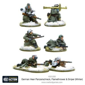 Warlord Games Bolt Action  Germany (BA) German Heer Special Weapons Teams (Winter) - 403012003 - 5060393705475