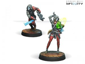 Corvus Belli Infinity  Nomads Corregidor Bandits (Hacker & Boarding Shotgun) - 280599-0752 - 2805990007521