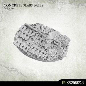 Kromlech   Concrete Slabs Bases Concrete Slabs Oval 105mm (1) - KRRB056 -