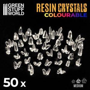 Green Stuff World   Green Stuff World Conversion Parts CLEAR Resin Crystals - Medium - 8436574508970ES - 8436574508970