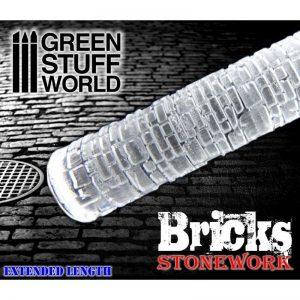 Green Stuff World   Rolling Pins Rolling Pin BRICKS - 8436554361625ES - 8436554361625