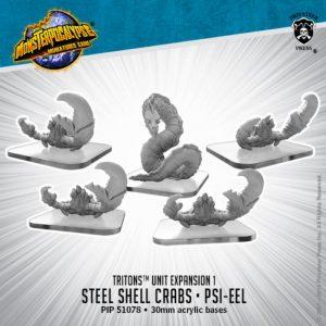 Privateer Press Monsterpocalypse  SALE! Monsterpocalypse Triton Steel Shell Crabs & Psi-Eel - PIP51078 - 875582025426