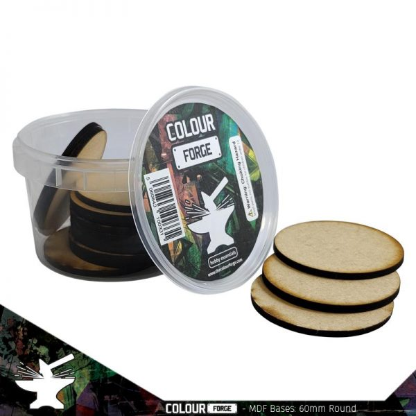 The Colour Forge   MDF Bases MDF Bases - 60mm Round (15) - TCF-MDF-60R - 5060843100409