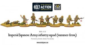 Warlord Games Bolt Action  Japan (BA) Imperial Japanese Army infantry squad (summer) - WGB-JI-30 - 5060200848791