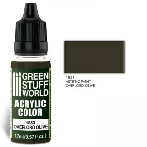 Green Stuff World   Acrylic Paints Acrylic Color OVERLORD OLIVE - 8436574502121ES - 8436574502121