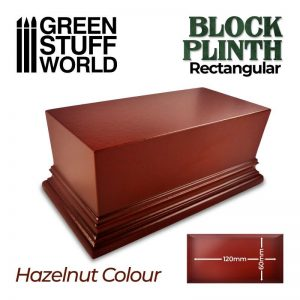 Green Stuff World   Display Plinths Rectangular Top Display Plinth 12x6cm - Hazelnut Brown - 8435646500683ES - 8435646500683