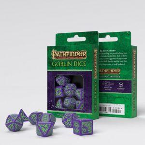 Q-Workshop   Q-Workshop Dice Pathfinder Goblin Purple & green Dice Set (7) - SPAT76 - 9781601258335