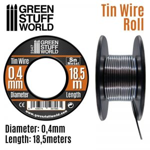 Green Stuff World   Metal Sheets & Wire Flexible tin wire roll 0.4mm - 8436574507065ES - 8436574507065