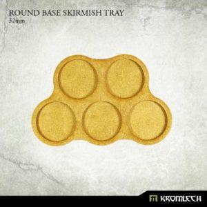 Kromlech   Movement Trays Round Base Skirmish Tray 32mm (5) - KRHB030 - 5902216114876